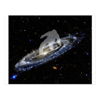 Snowboard la galaxia del Andromeda Postal