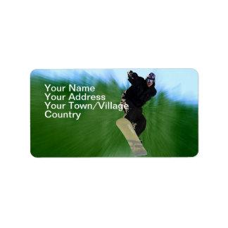 Snowboard Label