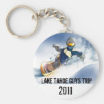 snowboard, Lake Tahoe Guys Trip, 2011 Keychain