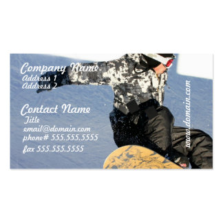 Snowboard Launch Business Cards
