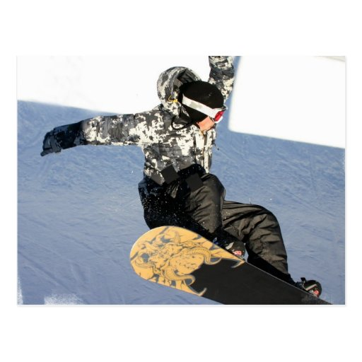 Snowboard Launch Postcards