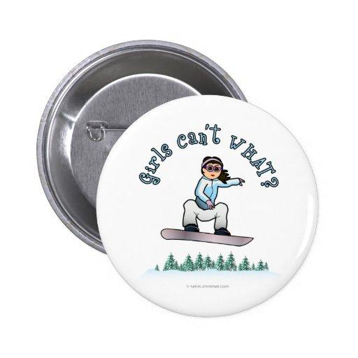 Snowboard ligera de los chicas pin redondo 5 cm