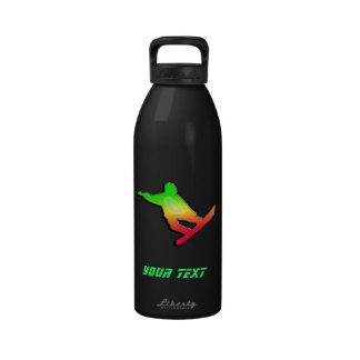 Snowboard lisa botella de agua