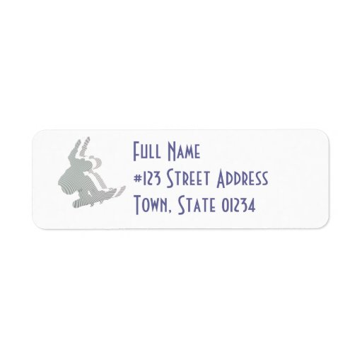 Snowboard Logo Design Mailing Label
