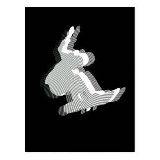 Snowboard Logo Design Postcard