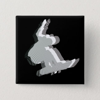 Snowboard Logo Design Square Pin