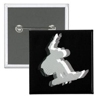 Snowboard Logo Design Square Pin