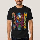 Snowboard malvada de Butterfinger de la camiseta Poleras