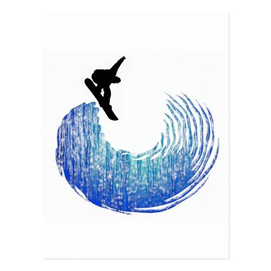 Snowboard No Crusty Postcard