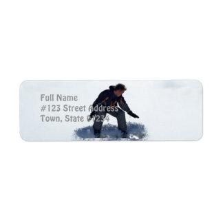 Snowboard Ollie Return Address Label