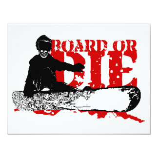 snowBOARD OR DIE Card
