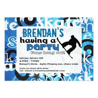 Snowboard Party Invitation