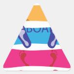 Snowboard Pegatina Trianguladas Personalizadas