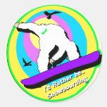 Snowboard Pegatinas