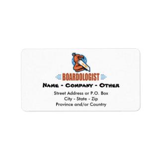 Snowboard personalizada etiqueta de dirección