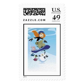 Snowboard posible Disney de Kim Sellos Postales