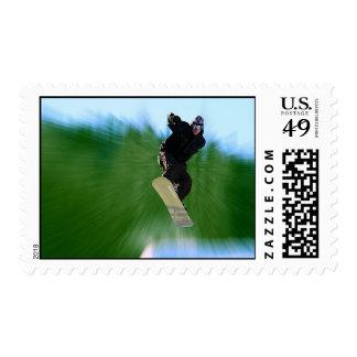 Snowboard Postage Stamp