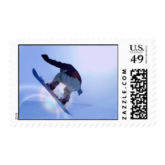 Snowboard Postage Stamps