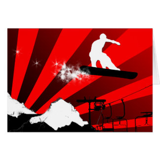 snowboard. powder trail. card