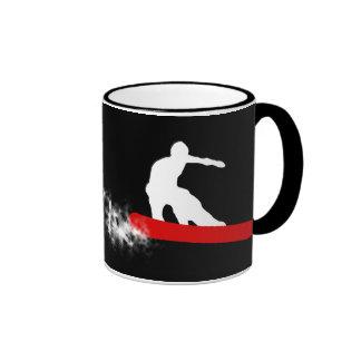 snowboard : powder trail : coffee mugs
