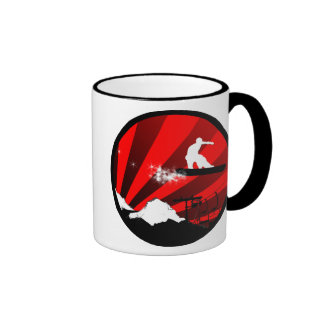 snowboard : powder trail ringer coffee mug