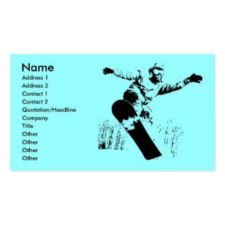 Snowboard Profile Card Double-Sided Standard Business Cards (Pack Of 100)