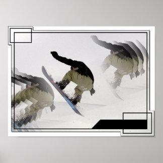 Snowboard Rails Poster Print