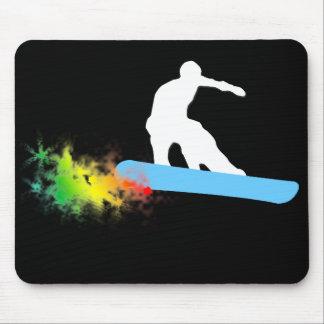 snowboard. rainbow. mouse pad