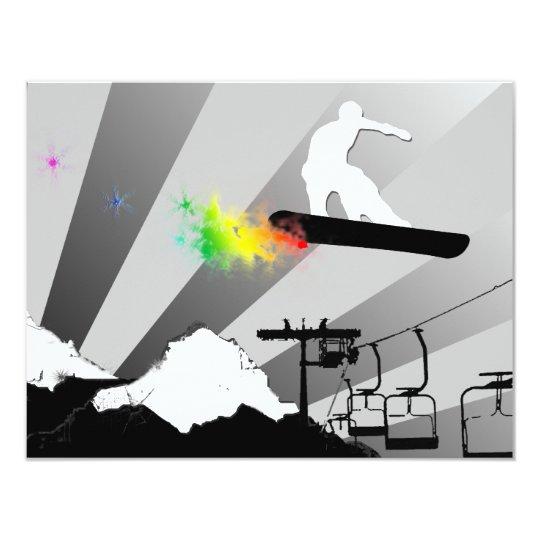 snowboard : rainbow powder trail card