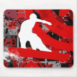 snowboard. rastro del polvo tapete de ratón
