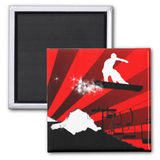 snowboard. rayos rojos imanes