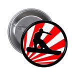 snowboard. rayos rojos pins