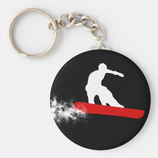 snowboard. red. keychain
