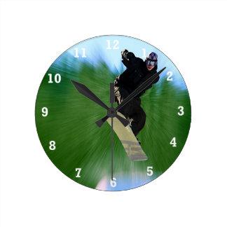 Snowboard Reloj De Pared
