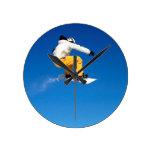 Snowboard Reloj Redondo Mediano