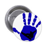 Snowboard Riot Blues 2 Inch Round Button