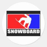 snowboard round sticker