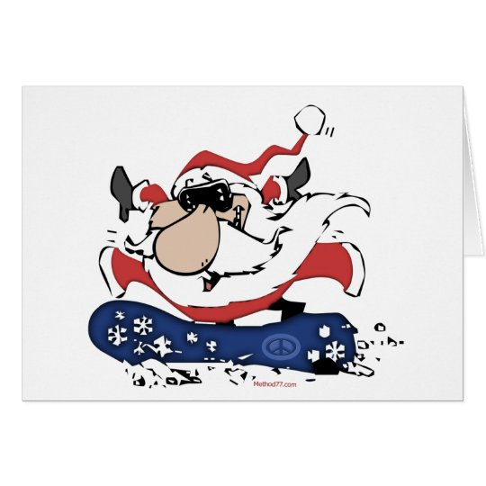 Snowboard Santa cards
