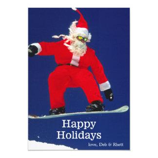 """Snowboard Santa Invitación 5"""" X 7"""""""