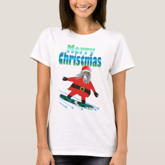 Snowboard Santa Playera