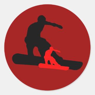 snowboard. shadowstance. classic round sticker