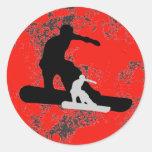 snowboard. shadowstance. round sticker