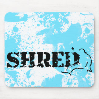 snowboard. shred. mouse pad