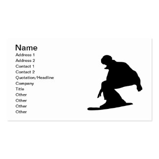 Snowboard Silhouette Business Card