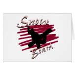Snowboard Silhouette Greeting Card