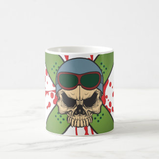 Snowboard skull and cross board.ai coffee mug