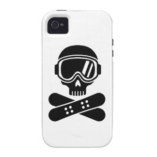Snowboard skull goggles case for the iPhone 4