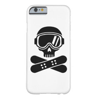 Snowboard skull goggles barely there iPhone 6 case
