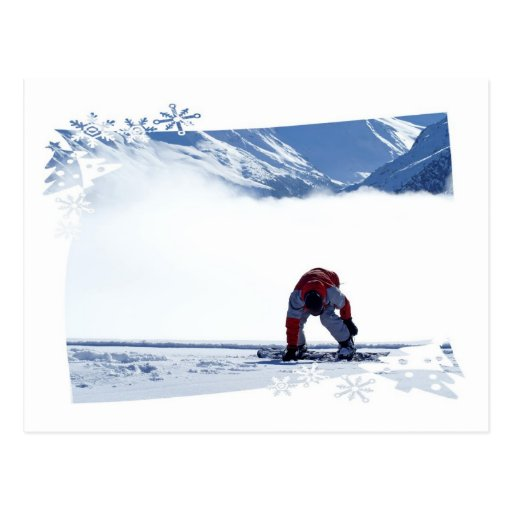 Snowboard Slide  Postcard