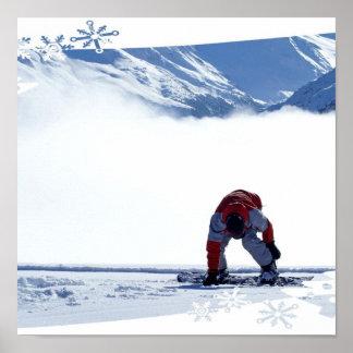 Snowboard Slide Poster